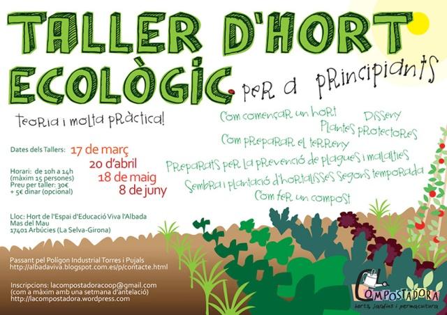 Taller d'Hort Ecològic per a principiants (teoria i molta pràctica!)